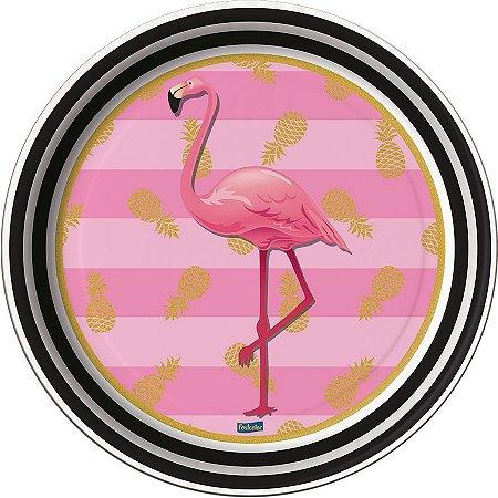 Prato de Festa Flamingo - 8 unidades
