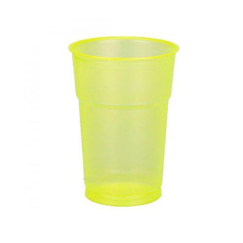 Copo Neon Amarelo 300ml - 50 unidades