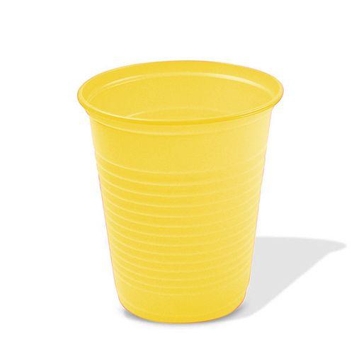 Copo Descartável Amarelo 200 ml - 50 unidades