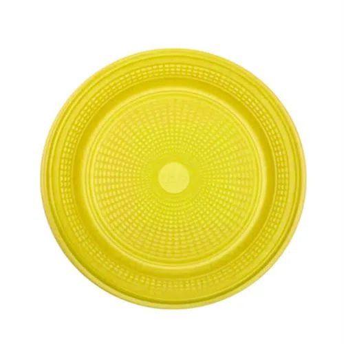 Prato Descartável Amarelo 15 cm. 10 unidades