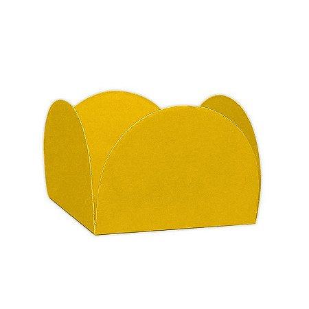 Porta Forminha 4 Pétalas Amarela - 50 unidades