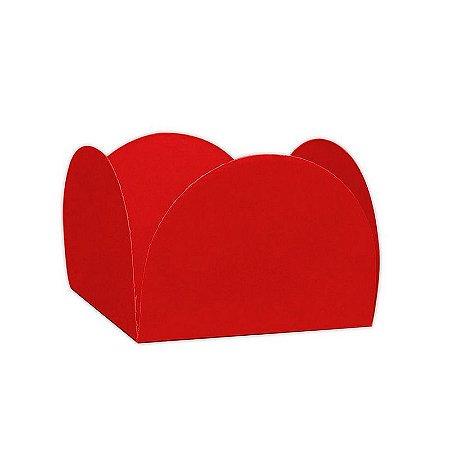 Porta Forminha 4 Pétalas Vermelho - 50 unidades
