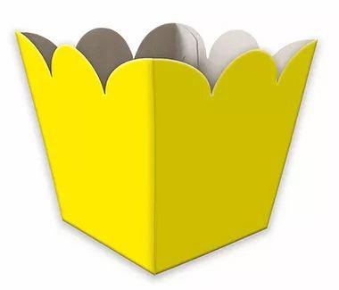 Cachepot Amarelo - 8 unidades