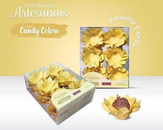 Forminha Veneza Amarelo Candy - 40 unidades