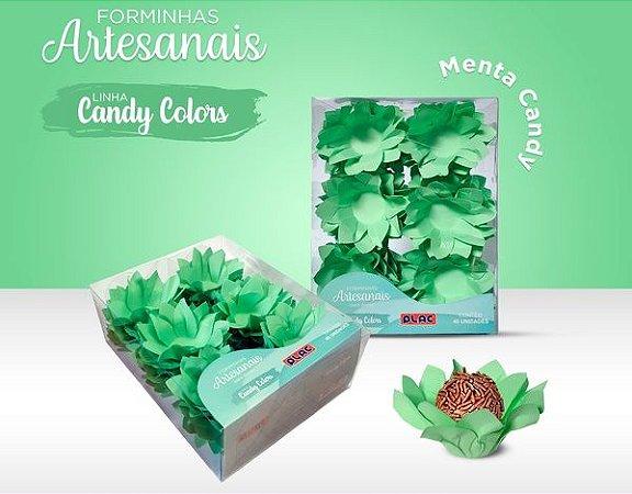 Forminha Veneza Verde Candy - 40 unidades