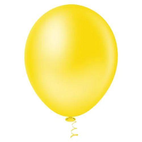 Balão Amarelo 9 Polegadas - 50 unidades