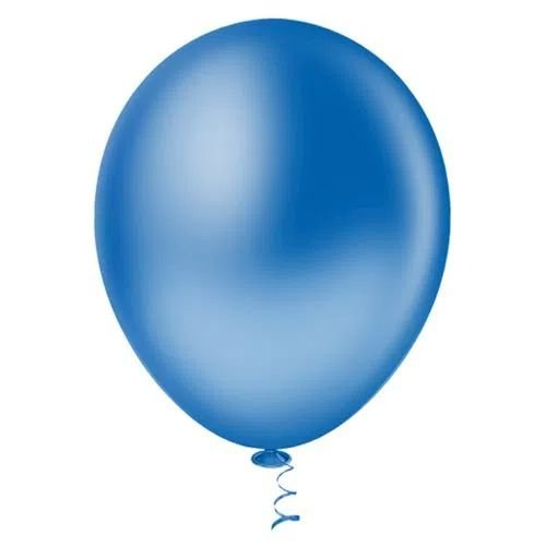Balão Azul 9 Polegadas - 50 unidades