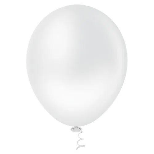 Balão Branco 9 Polegadas - 50 unidades