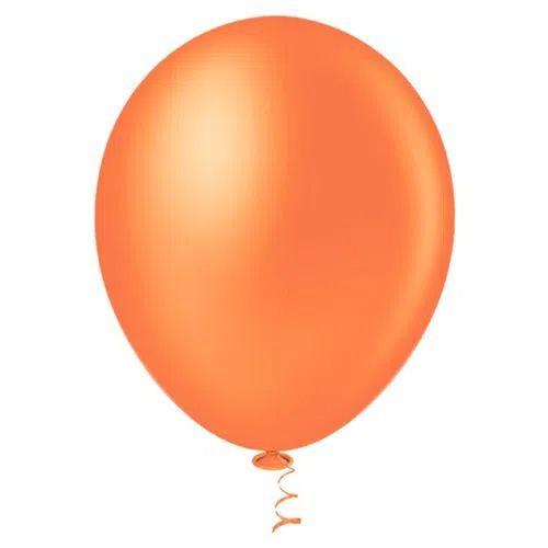 Balão Laranja 9 Polegadas - 50 unidades