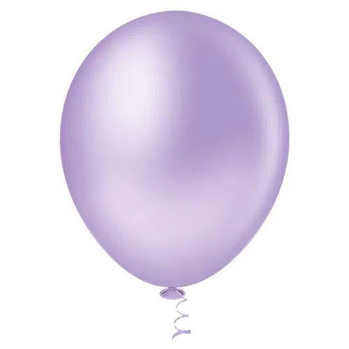 Balão Lilás 9 Polegadas - 50 unidades