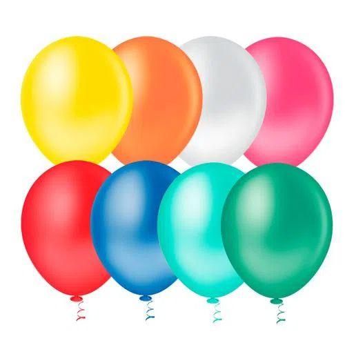 Balão Sortido 9 Polegadas - 50 unidades