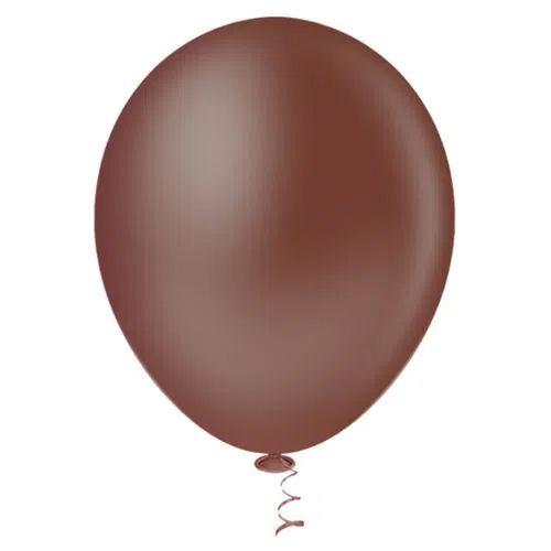 Balão Marrom 6,5 Polegadas - 50 unidades