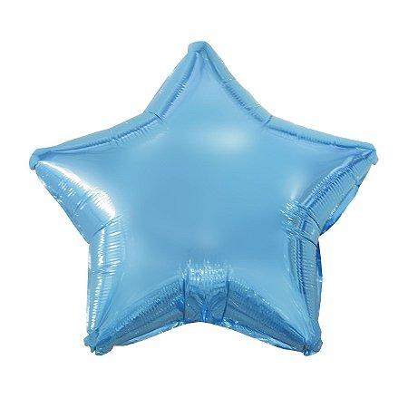 Balão Metalizado Estrela Azul - 45 centímetros