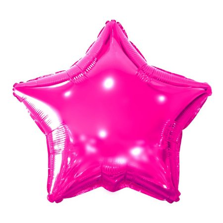 Balão Metalizado Estrela Rosa - 45 centímetros
