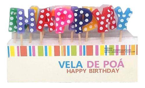 Vela Happy Birthday Poá