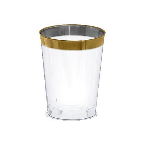 Copo Premium Borda Dourada 300ml - 4 unidades