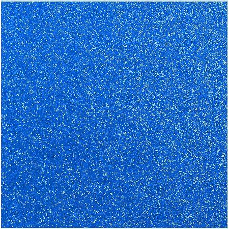 Placa de EVA Glitter Azul - 1 unidade