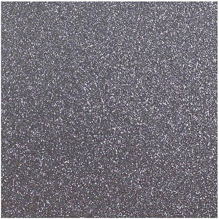 Placa de EVA Glitter Prata- 1 unidade