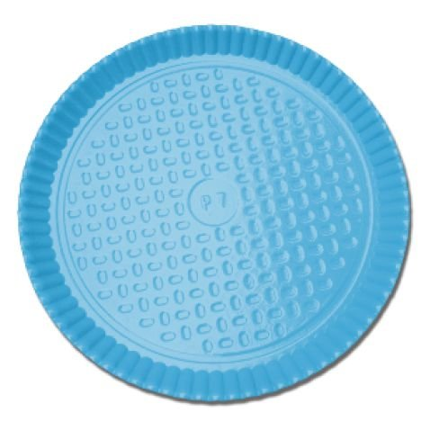 Prato Laminado Azul Claro 26 cm