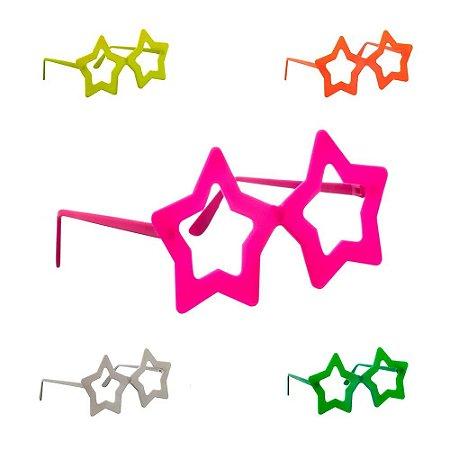 Óculos Estrela Colorido - 10 unidades