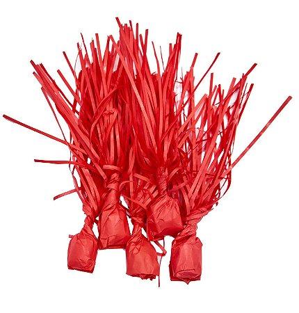 Papel para Bala de Coco Vermelho - 48 unidades