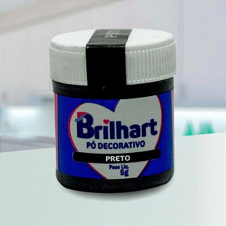 Pó de Brilho Cintilante Brilhart 5g Preto