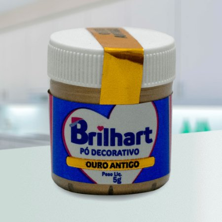 Pó de Brilho Cintilante Brilhart 5g Ouro Antigo