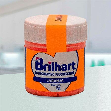 Pó de Brilho Brilhart 5g Neon Laranja