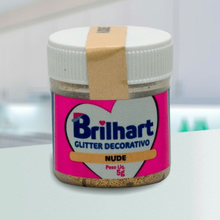 Glitter Decorativo Comestível Brilhart 5g - Nude