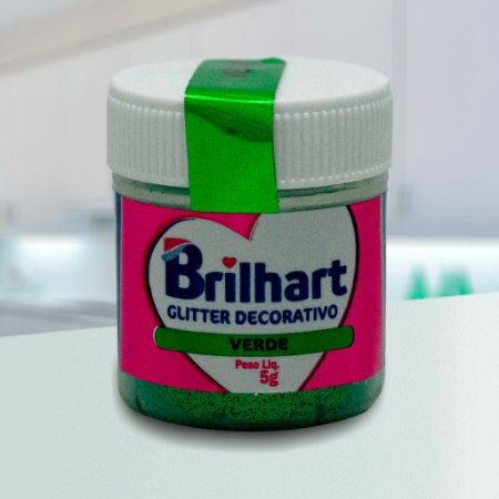 Glitter Decorativo Comestível Brilhart 5g - Verde