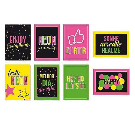 Cartaz Decorativo Neon Cromus - 8 unidades