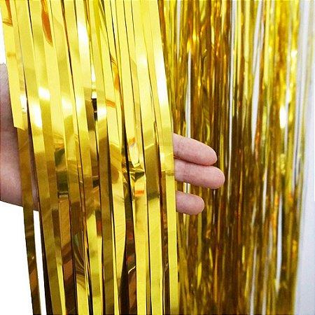 Cortina Decorativa Dourada
