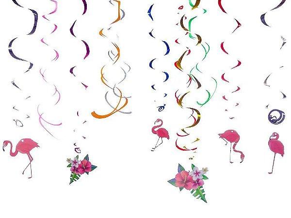 Decoração Espiral Flamingo