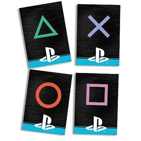 Quadrinhos Decorativos PlayStation - 4 unidades