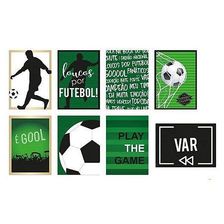 Cartaz Decorativo Futebol - 8 unidades