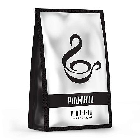 PREMIADO -  Café com aroma de rosas, acidez sedosa, corpo médio e finalização de damasco.