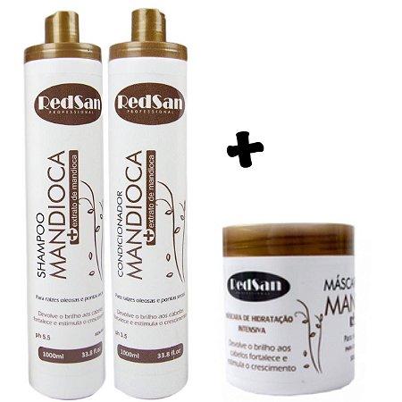 Kit Shampoo E Condicionador e Máscara Mandioca