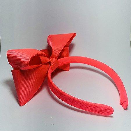 Tiara Laço de Cetim Rosa Pink