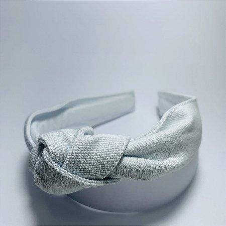 Tiara Nó Tecido Premium Branca