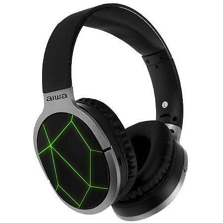 fone de ouvido bluetooth -  Aiwa AW-799BT  / com Microfone Removivel - Preto