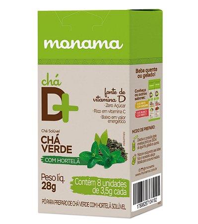 Chá D Mais Chá Verde com Hortelã 8 unds de 3,5g cd Monama