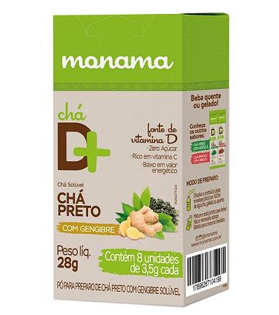 Chá D Mais Chá Preto com Gengibre 8 unds de 3,5g cd Monama