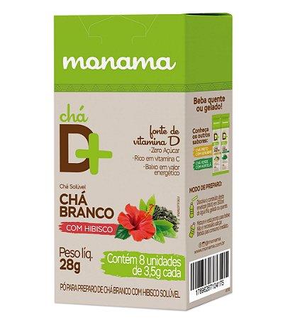 Chá D Mais Chá Branco com Hibisco 8 unids de 3,5g cd Monama