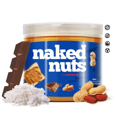 Pasta de Amendoim Wafer de Chocolate c/ Coco 450g Naked Nuts