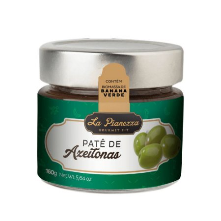 Patê Gourmet de Azeitona Verde 160g - La Pianezza