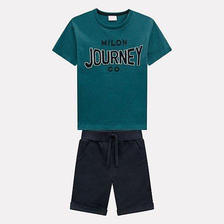 Conjunto Infantil Masculino Camiseta e Bermuda Milon