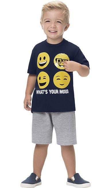 Conjunto Infantil Masculino Qual o Seu Humor