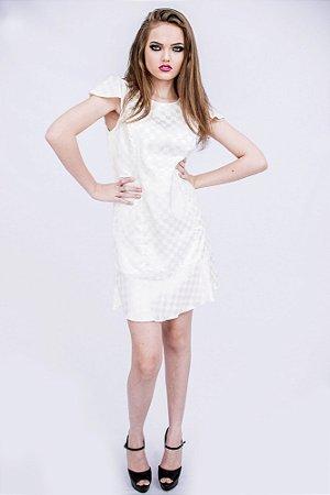 Vestido Branco Babados M