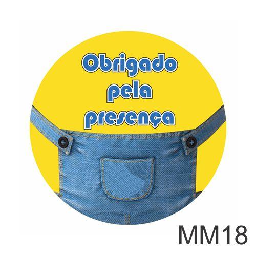 ADESIVO MINIONS OBRIGADO PELA PRESENÇA