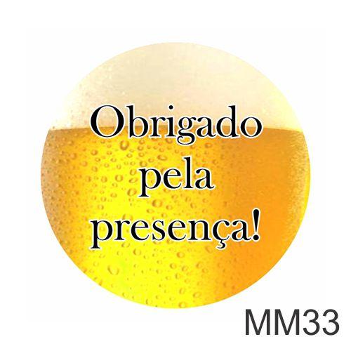 ADESIVO CERVEJA - OBRIGADO PELA PRESENÇA
